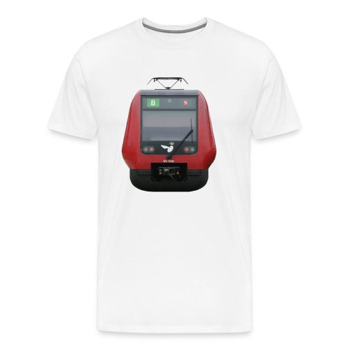 S-tog linie B - Herre premium T-shirt