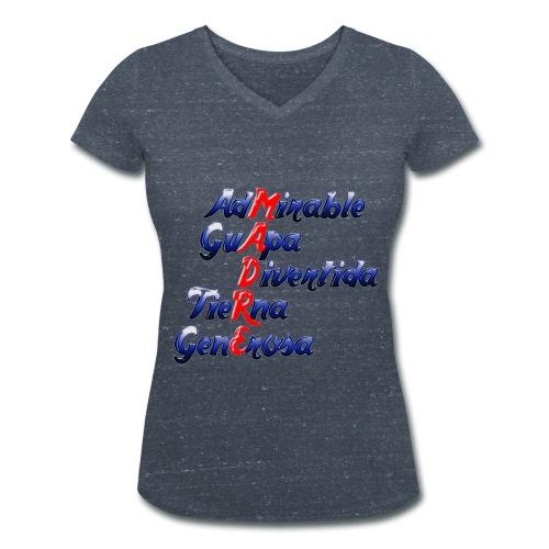 Madre - Camiseta ecológica mujer con cuello de pico de Stanley & Stella