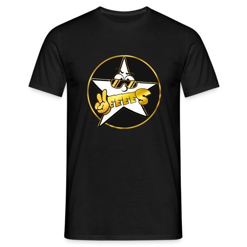 Männer T-Shirt - Schwarz Gold Yes Logo T-Shirt mit kreis in mehreren Farben! Druck auf der Brust.