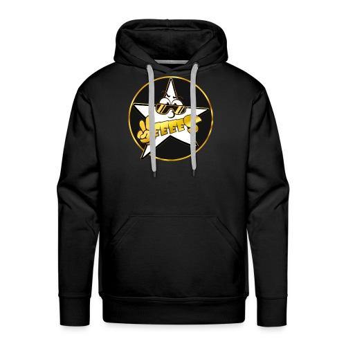 Männer Premium Hoodie - Schwarz Gold Yes Logo Hoody mit kreis in mehreren Farben! Druck auf der Brust.