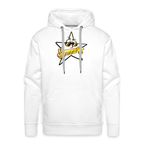 Männer Premium Hoodie - Weiss Gold standart Yes Logo Hoody! Druck auf der Brust.