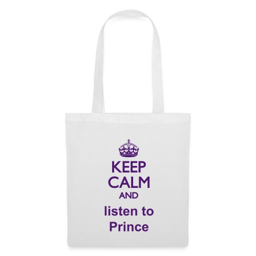 Listen to Prince - leisure bag - Purple letters - Stoffbeutel