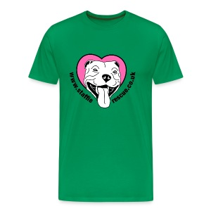 Staffie Rescue men's premium t-shirt (kelly green) - Men's Premium T-Shirt