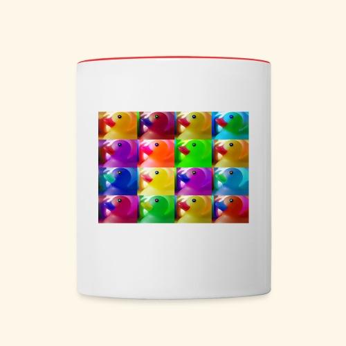 Alle meine Entchen - Tasse zweifarbig