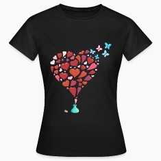 Hearts escaping t-shirt for women