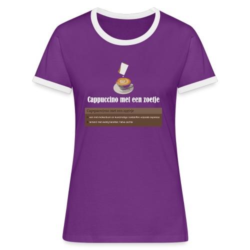 Cappuccino met een zoetje Contrashirt - Vrouwen contrastshirt