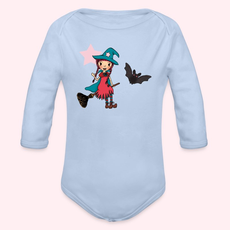 Witch Penelope in the Air - Baby Bio-Langarm-Body