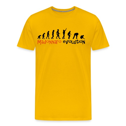MADONNARO EVOLUTION ORIGINAL - Men Black logo - Men's Premium T-Shirt