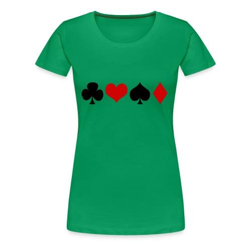 poker - T-shirt Premium Femme