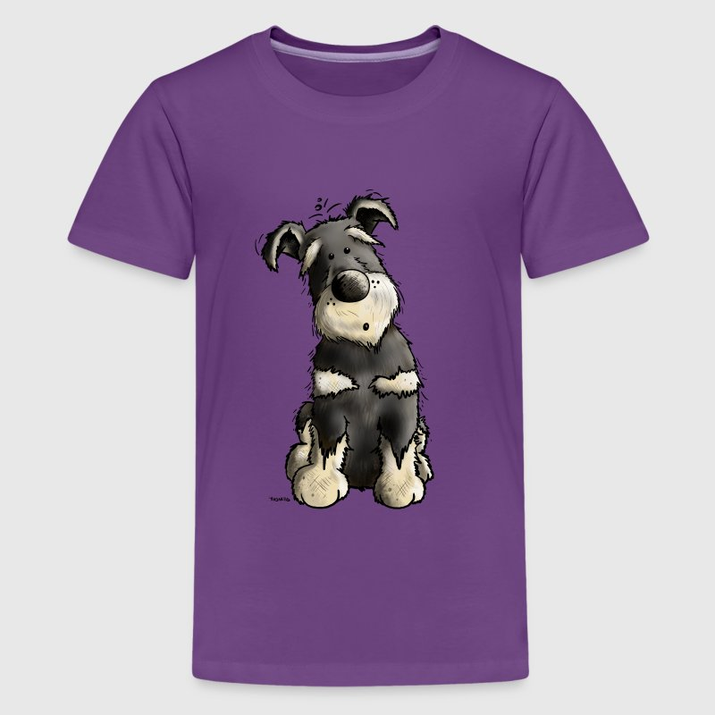 Schnauzer Shirts - Teenage Premium T-Shirt