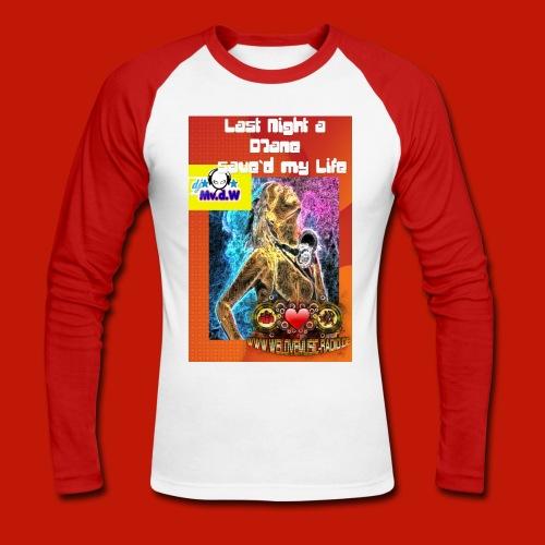 Last Night Männer red - Männer Baseballshirt langarm