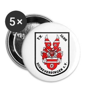 Buttons, 25 mm, 5 Stück - Buttons klein 25 mm
