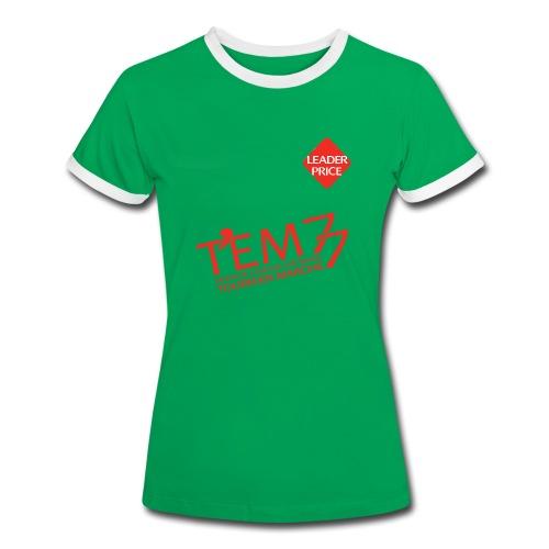 teeshirt vert TEM77 Femme - T-shirt contrasté Femme
