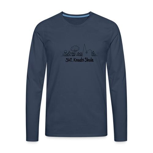 Langærmet Tshirt (herre) - Herre premium T-shirt med lange ærmer