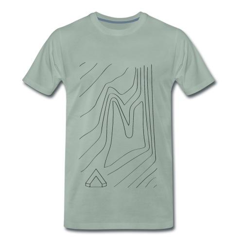 Männer Shirt Topographie I graugrün - Männer Premium T-Shirt