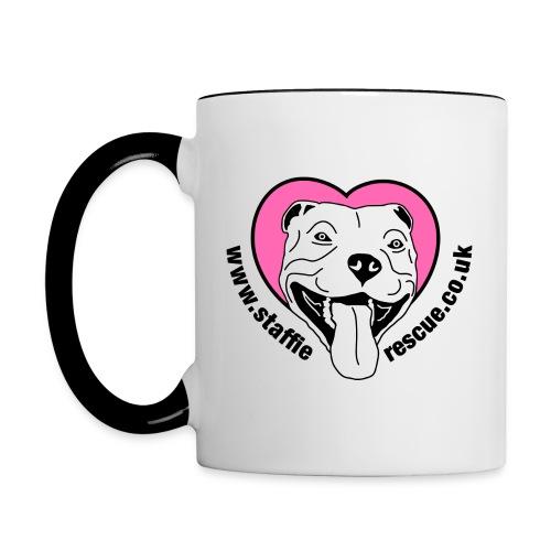 Staffie Rescue Dog Rescuer mug - Contrasting Mug