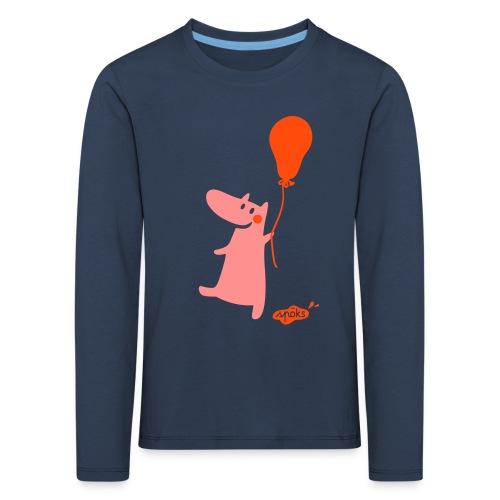 Kallinchen mit Luftballon - Kinder Premium Langarmshirt