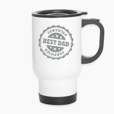 Certified Best Dad -Stars Mugs & Drinkware
