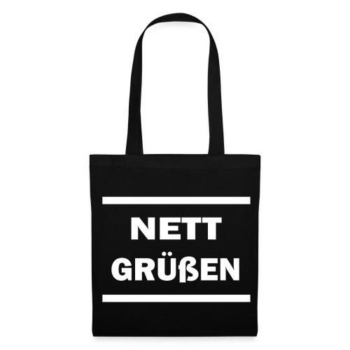 Nett Grüßen Logo Stoffbeutel  - Stoffbeutel