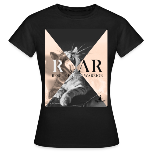 Rescue Kitten Warrior Black (Female) - Vrouwen T-shirt