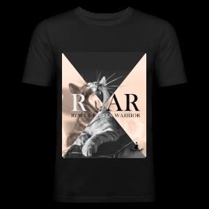 Rescue Kitten Warrior Black (Male) - slim fit T-shirt