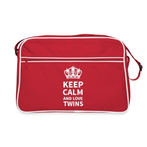 URBAN BAG: KEEP CALM AND LOVE TWINS - Retro Tasche
