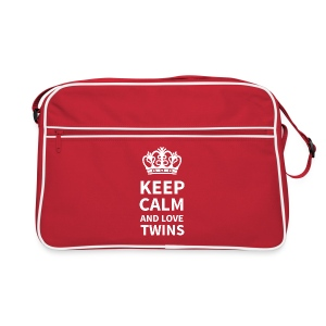 URBAN BAG: KEEP CALM AND LOVE TWINS - Retro Tasche