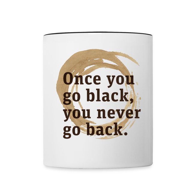 Drink goog black coffe, and you'll never go back