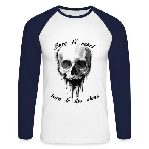 Skull Rebel - Männer Baseballshirt langarm