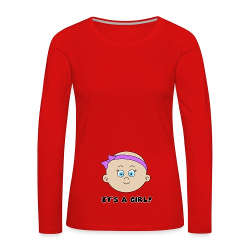 it's a girl - T-shirt manches longues Premium Femme