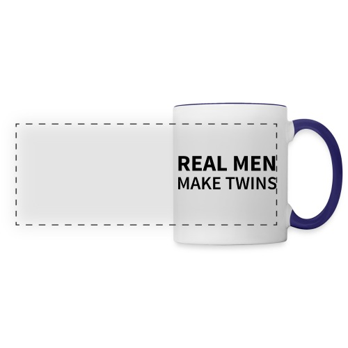 Tasse REAL MEN MAKE TWINS  - Panoramatasse