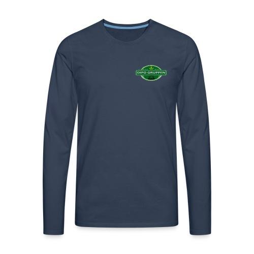 Herre Langærmet bluse DG CREW - Herre premium T-shirt med lange ærmer