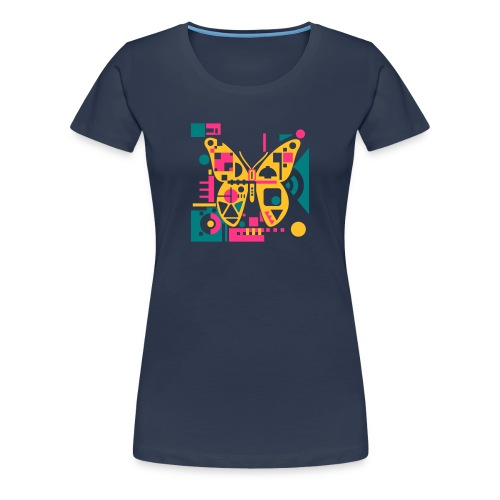 Three-Colors-Butterfly-Girls-T-Shirt - Frauen Premium T-Shirt