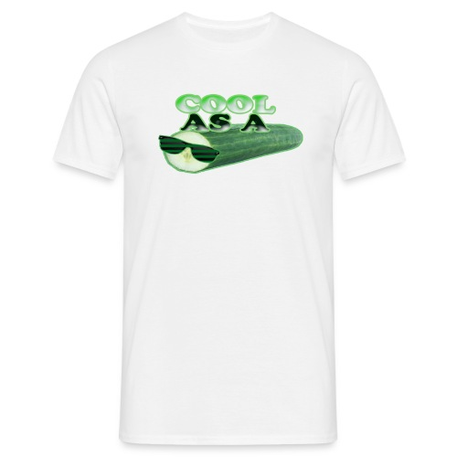 Cool As A Cucumber T-Shirt (white) - Men's T-Shirt