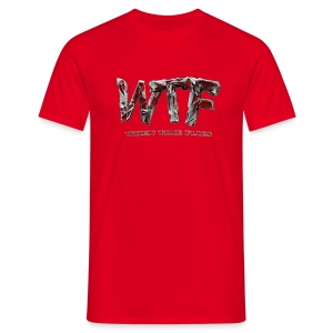 WTF when time flies -  T-Shirt - red - mens - Men's T-Shirt