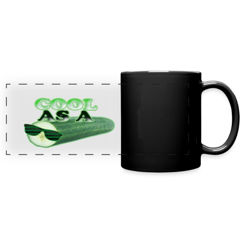Cool As A Cucumber Mug / Cup - black - Full Color Panoramic Mug