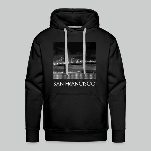 'SF.' Black Hoodie - Men's Premium Hoodie