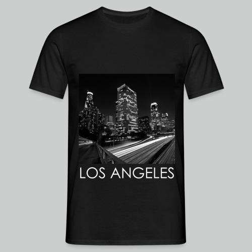 'LA.' Black T-Shirt - Men's T-Shirt