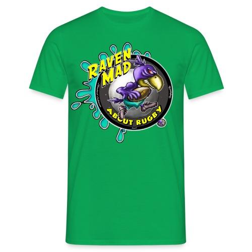 Mens Raven Mad Rugby - Men's T-Shirt