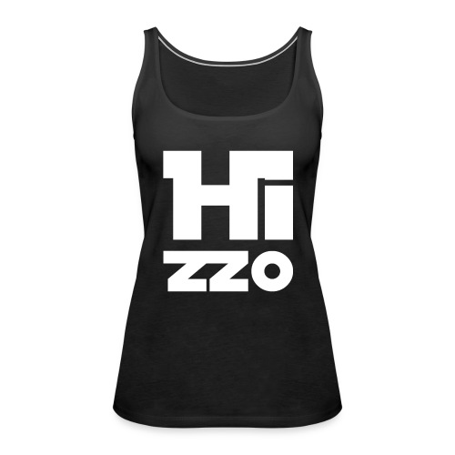 Frauen Tank Top dark grey HIZZO white - Frauen Premium Tank Top