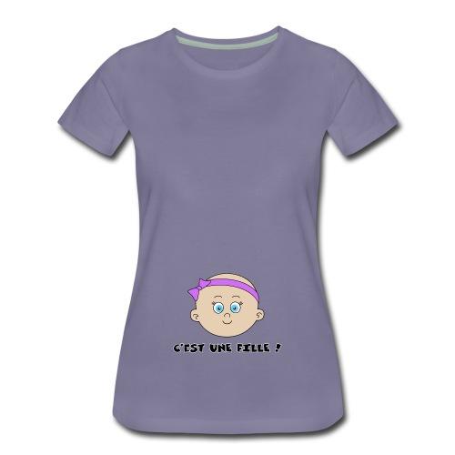 c'est une fille - T-shirt Premium Femme