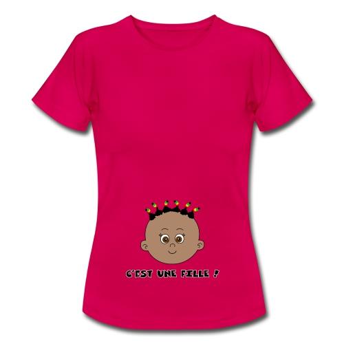 fille noire - T-shirt Femme