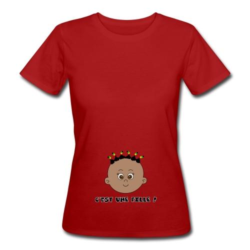 fille noire - T-shirt bio Femme