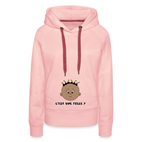 fille noire - Sweat-shirt à capuche Premium pour femmes