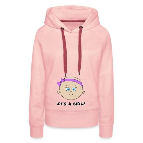 it's a girl - Sweat-shirt à capuche Premium pour femmes