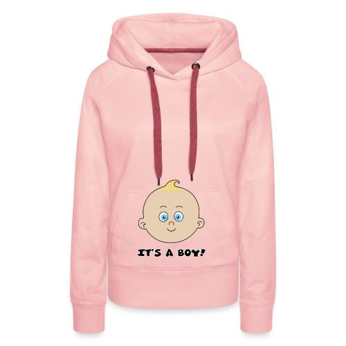 it's a boy - Sweat-shirt à capuche Premium pour femmes