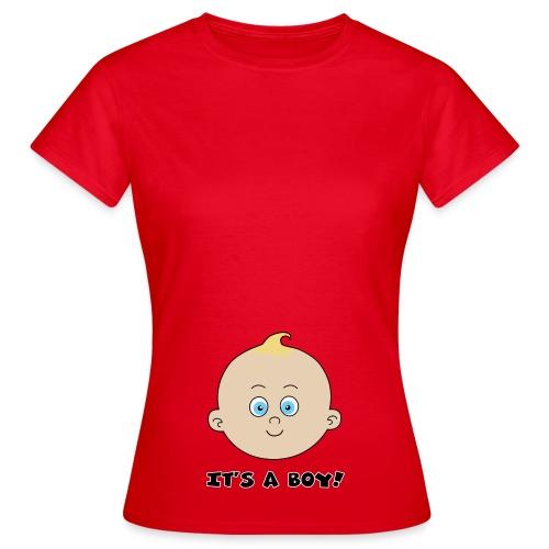 it's a boy - T-shirt Femme