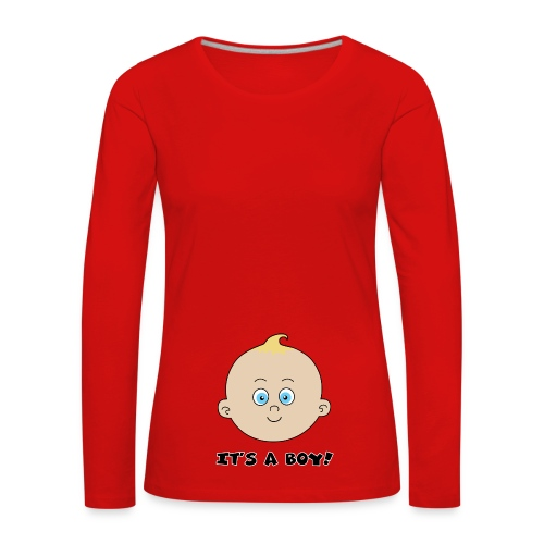 it's a boy - T-shirt manches longues Premium Femme