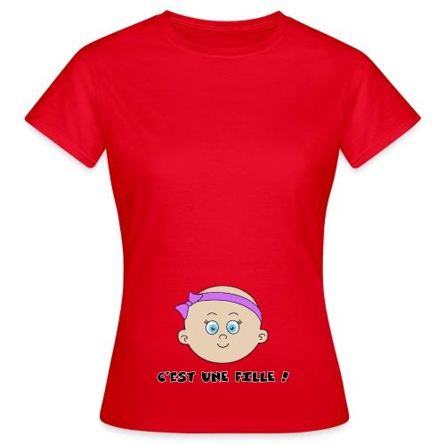 C'est une Fille - T-shirt Femme