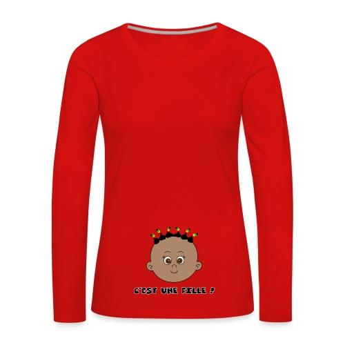C'est une fille noire - T-shirt manches longues Premium Femme